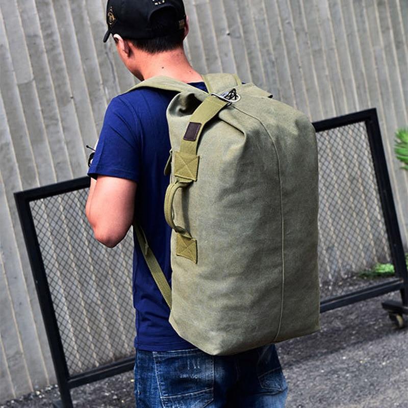 Large Capacity Man Travel Bag Mountaineering Backpack Male Luggage Top Canvas Bucket Shoulder Bags For Boys Men Backpacks XA88C