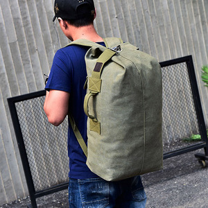 Image 4 - Large Man Travel Bag Mountaineering Backpack Male Luggage Canvas Bucket Shoulder Army Bags For Boys Men Backpacks mochilas XA88C