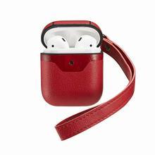 Airpods用革ケースカバー保護apple airpod充電ケーススポーツフォンfone社デouvidoドロップショッピング