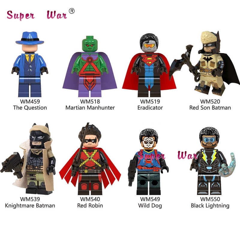 Single Building Blocks Movie  Red Son Knightmare Batman Black Lightning Wild Dog  Wild Dog Robin  Action Toys For Children