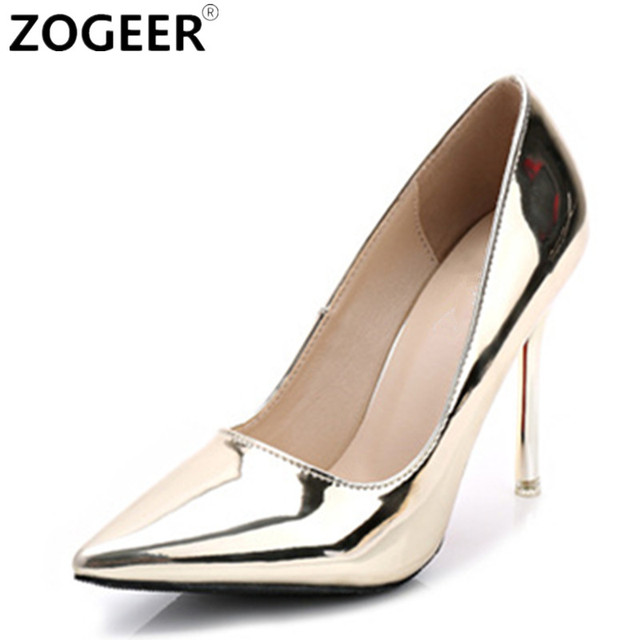 Aliexpress.com : Buy Hot 2017 Spring Autumn Women Pumps Sexy Gold ...