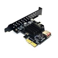 10Gbps USB 2.0 PCI Express 3.0 X2 Adapter Front USB3.1 Type E 20 Pin Expansion Card for Desktop PC Computer DIY