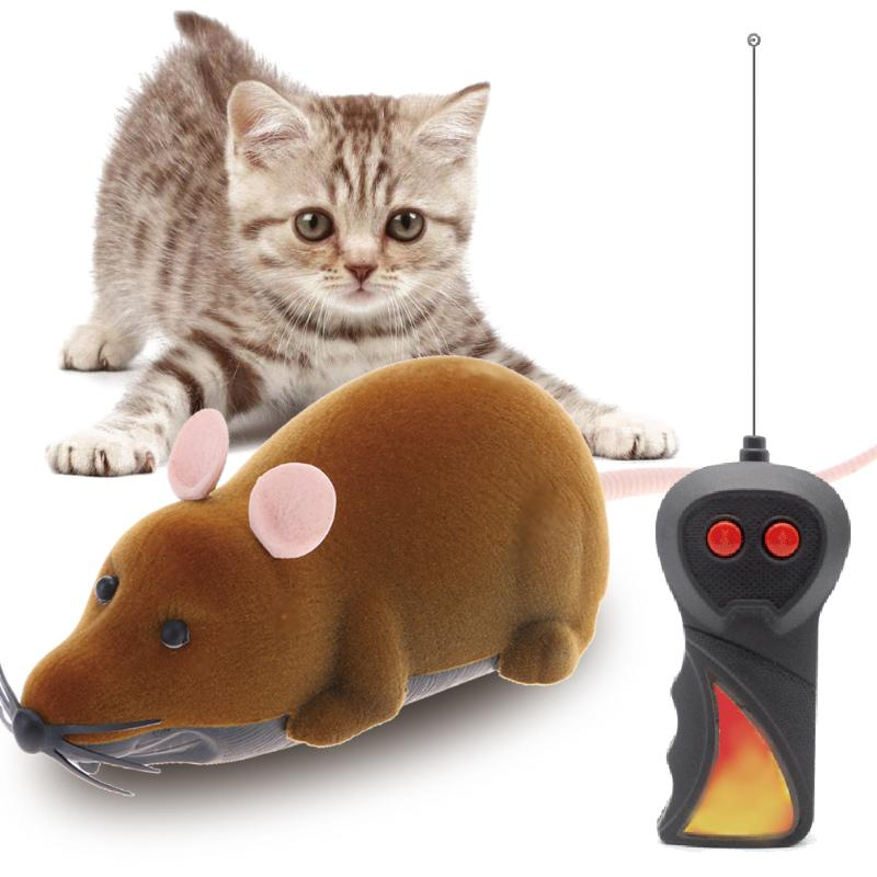 1PC Cat Toys Wireless Remote Control Mouse Toys for Cat Simulation Electronic Rat Mice Toys Pet Cat Animal Supplies