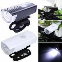 Recargable USB LED bicicleta linterna cabeza lámpara delantera bicicleta 300LM ciclismo luz faro luz bicicleta carga usb