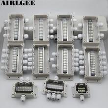 ABS водонепроницаемый распределительный ящик для подключения наружного внутреннего распределительного короб для мониторинга чехол для электрического корпуса с кабельными лентами
