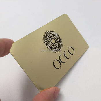 High-end quality custom gold mirror metal business card