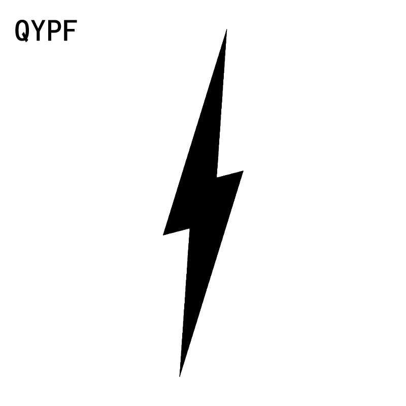 QYPF 3.8cm*17.1cm Interesting Electric New Version The Lightning In Night Is Brilliant Vinyl Car Sticker Decal C18-0954