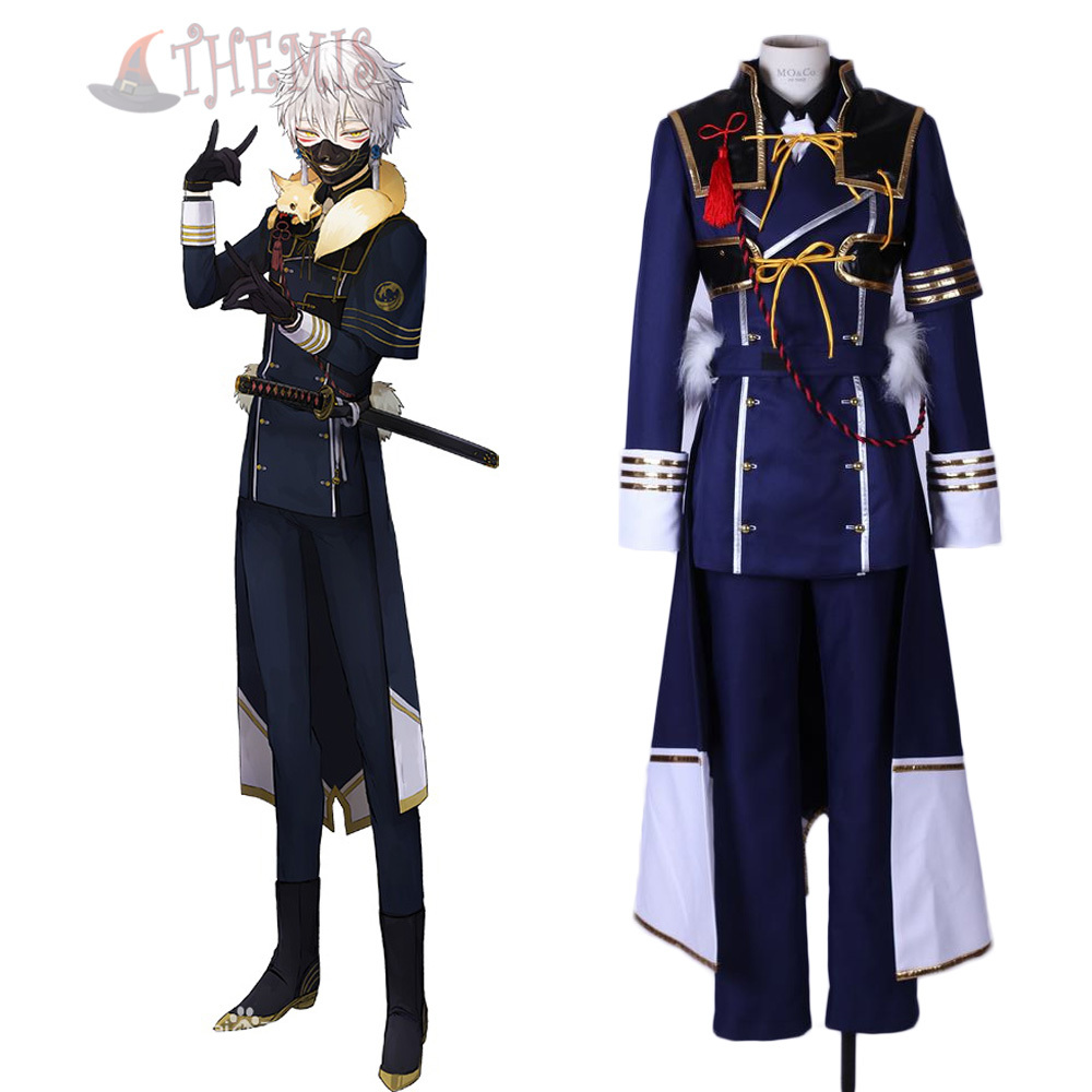 Aliexpress.com  Buy Athemis New Arrival Anime Costumes TouKenRanBu Nakigitsune Cosplay Costume Cool Blue Set with Skirt Fighting Outfit from Reliable anime
