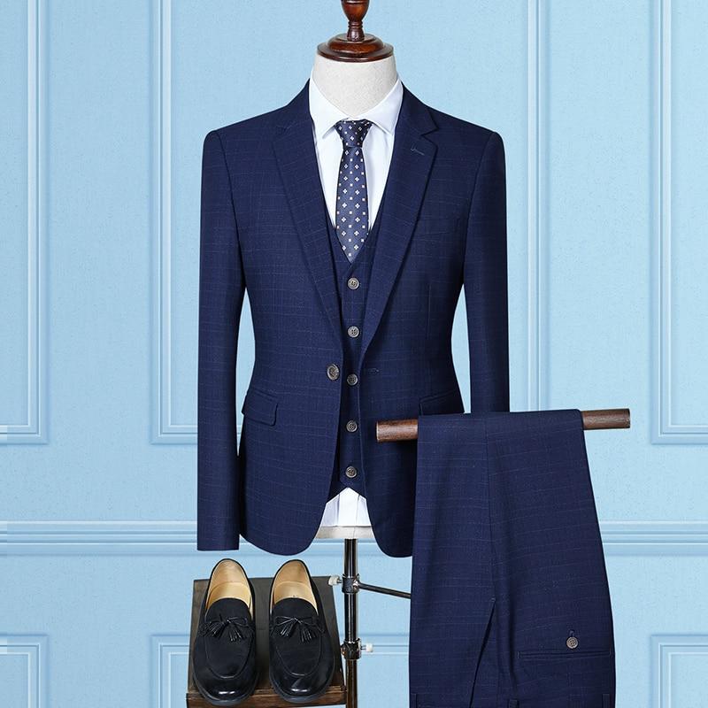 Plus bourgogne bleu 3 Robe gris Taille Formelle Costumes Hommes 4xl Plaid Loisirs Costume La Slim Pcs Terno Casual Pour Oscn7 D'affaires Noir Masculino Fit 1FnOgqwwA