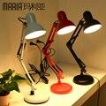 Frete grátis lâmpada de mesa Conduziu a lâmpada olho americano longo braço dobrável lâmpada de cabeceira lâmpadas de mesa luzes secretária quarto