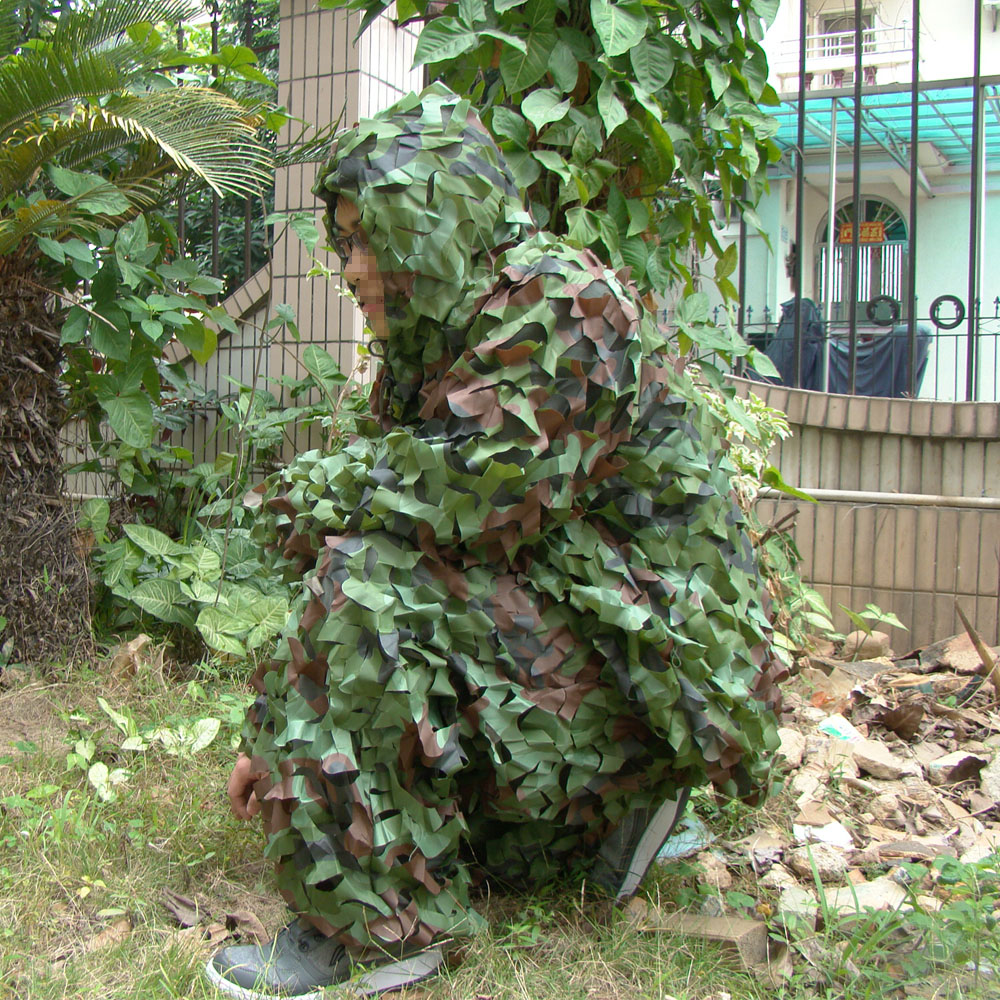 TTGTACTICAL Camouflage Tactical Sniper Ghillie Suit Includes Top Jacket Long Pants Paintball Hunting Ghilly Suit Woodland DesertTTGTACTICAL Camouflage Tactical Sniper Ghillie Suit Includes Top Jacket Long Pants Paintball Hunting Ghilly Suit Woodland Desert