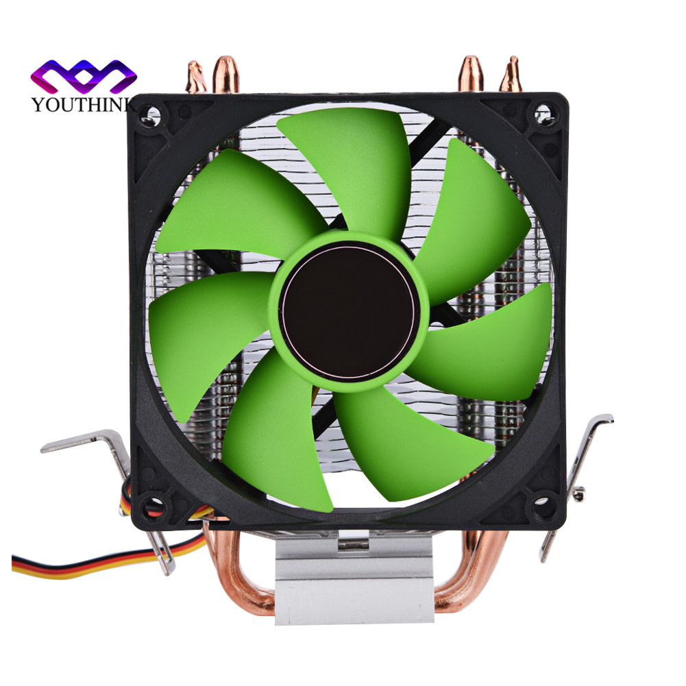 90mm 3Pin Quiet Fan CPU Cooler Heatsink Speed Up to 2100 RPM Cooling Fans for Intel LGA775/1156/1155 AMD AM2/AM2+/AM3 CPU jetting new dual fan cpu quiet cooler heatsink for intel lga775 1156 amd 95w spca