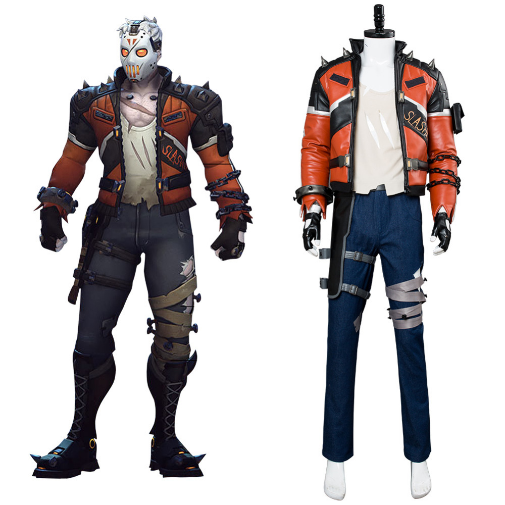 OW Soldier 76 Cosplay Costume Slasher Skin Soldier 76 Costume Jacket Outfit Adult   Men Halloween Costume Custom Made