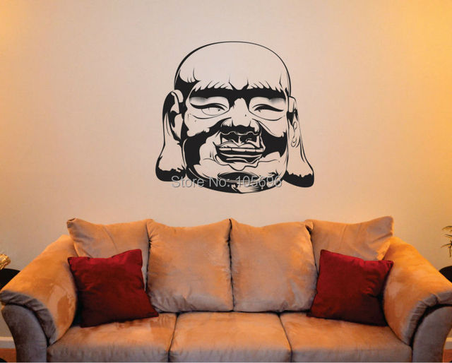 8585cm custom made sacred buddha home stickers decals art wall decor mural vinyl religion