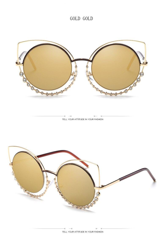 9beaed8acb Luxury Diamond Sexy Cat Eye Sunglasses – styleNB
