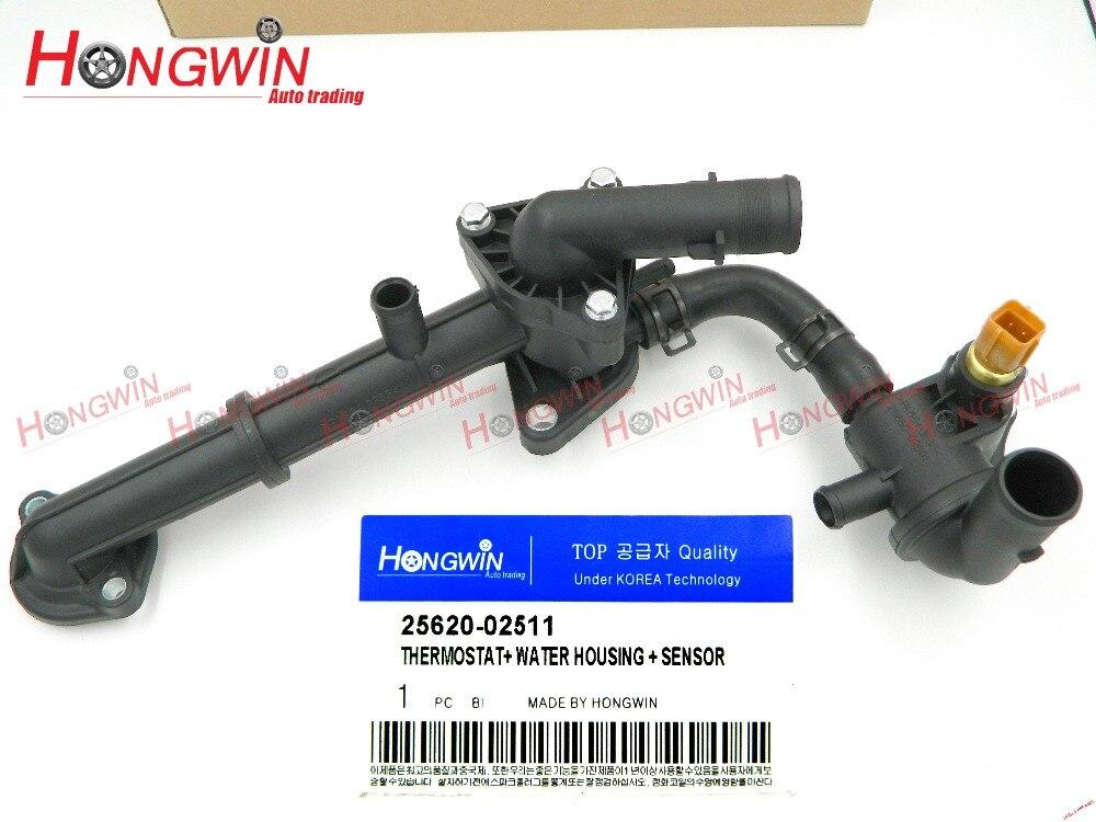25620 02511 Coolant Thermostat Fits KIA Picanto New Morning 04 10 Hyundai Amica Atos Atoz Santro
