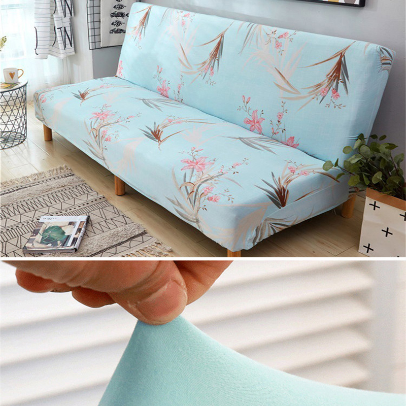 Spandex Sofa Bed Cover Stretch No armrests Tight Wrap Sofa Cover for Living Room Soft Slipcovers Elastic Couch Cover cubre sofa in Sofa Cover from Home Garden