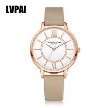 Relogio LVPAI Fashion Quartz Watch Men Clock Women Leather Strap Watches Mens Roman Numeral Wrist Watch Reloj Montre #ZYL