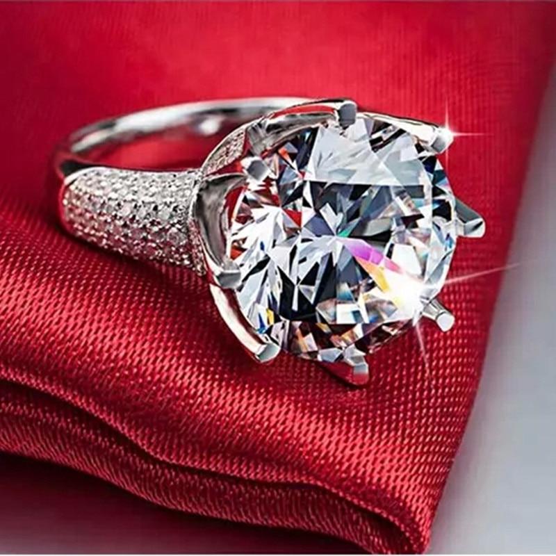 Visisap belo zlato barva prstan 8 karatna krona AAA kubični cirkonij - Modni nakit - Fotografija 3