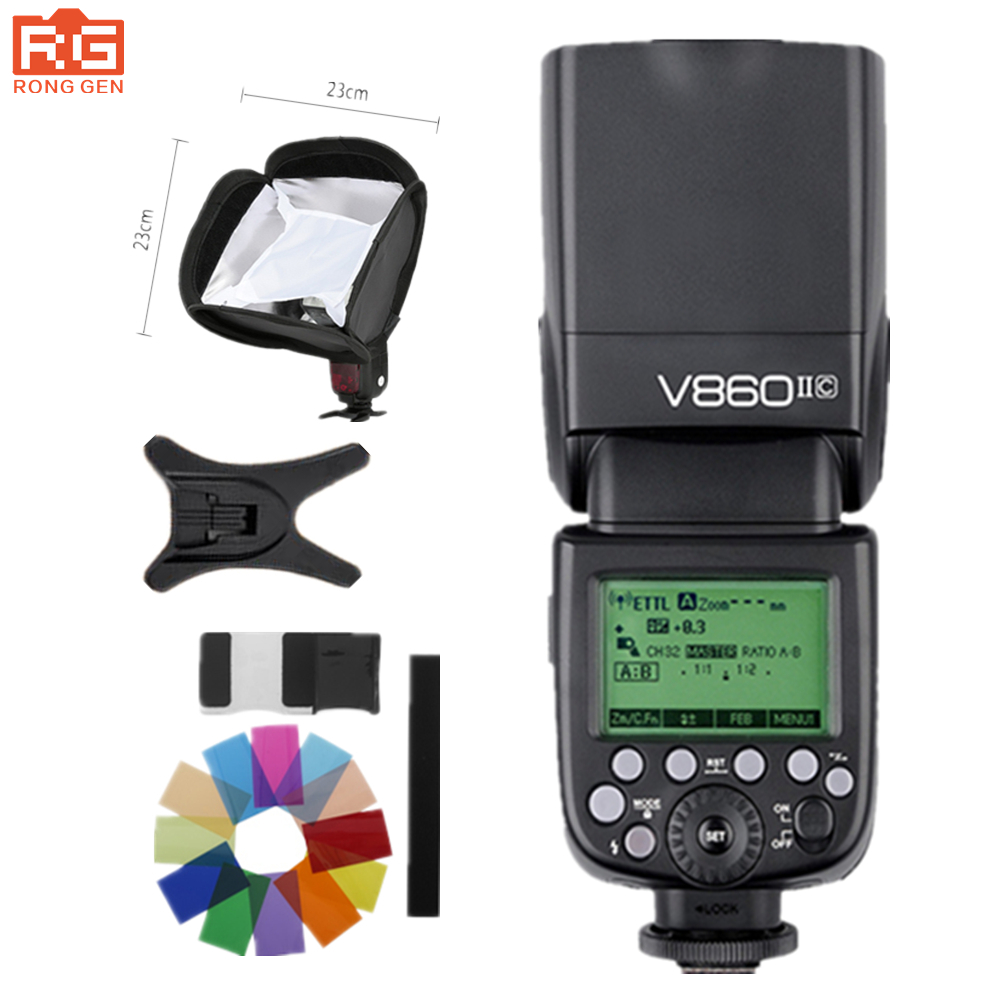 Godox Ving V860II V860II-C E-TTL HSS 1/8000 Li-ion Battery Speedlite Flash for Canon DSLR godox ving 2x v860n v860 i ttl hss master li ion flash speedlite ft 16s trigger speedlite 1 8000s for nikon d800 d90 d600 d7000