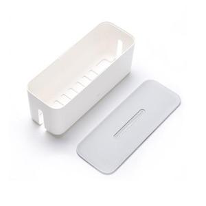 Image 4 - Original xiaomi Power Cord Socket Storage Box Dust insulation Cooling Hole Strip Plug Base Finishing Tying Box Home Storag Tools