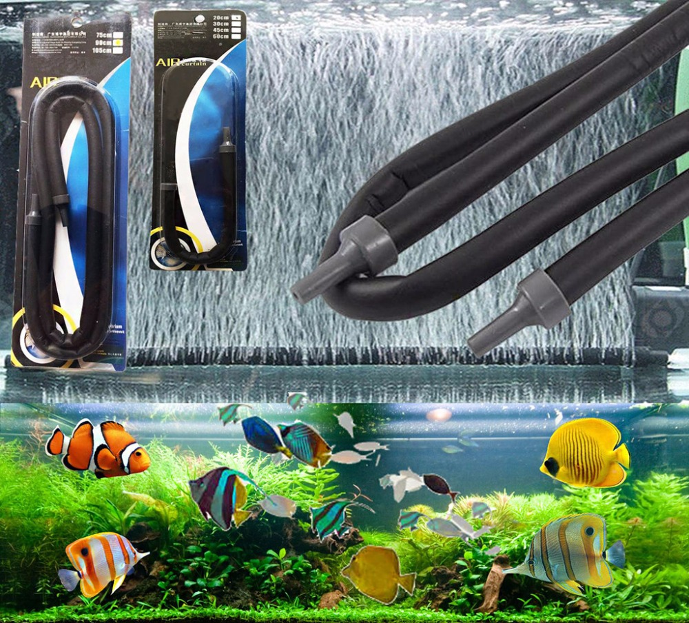 Aquarium fish tank bubble air curtain - 1pc Bubble Strip Aquarium Toolrubber Air Curtain Bubble Wall Diffuser Aerator For Aquarium Fish Tank Air
