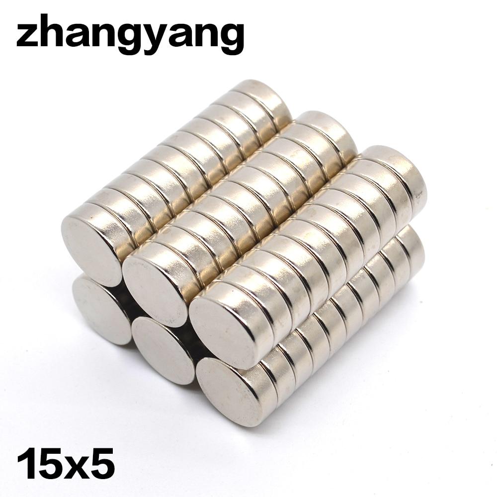 15MM X 4MM Neodymium Disc Super Strong Rare Earth N35 Small Fridge Magnets