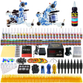 Solong Tattoo Professional Tattoo Kit 2 Guns Lionhead LCD Power  Tattoo Pigment  TK262