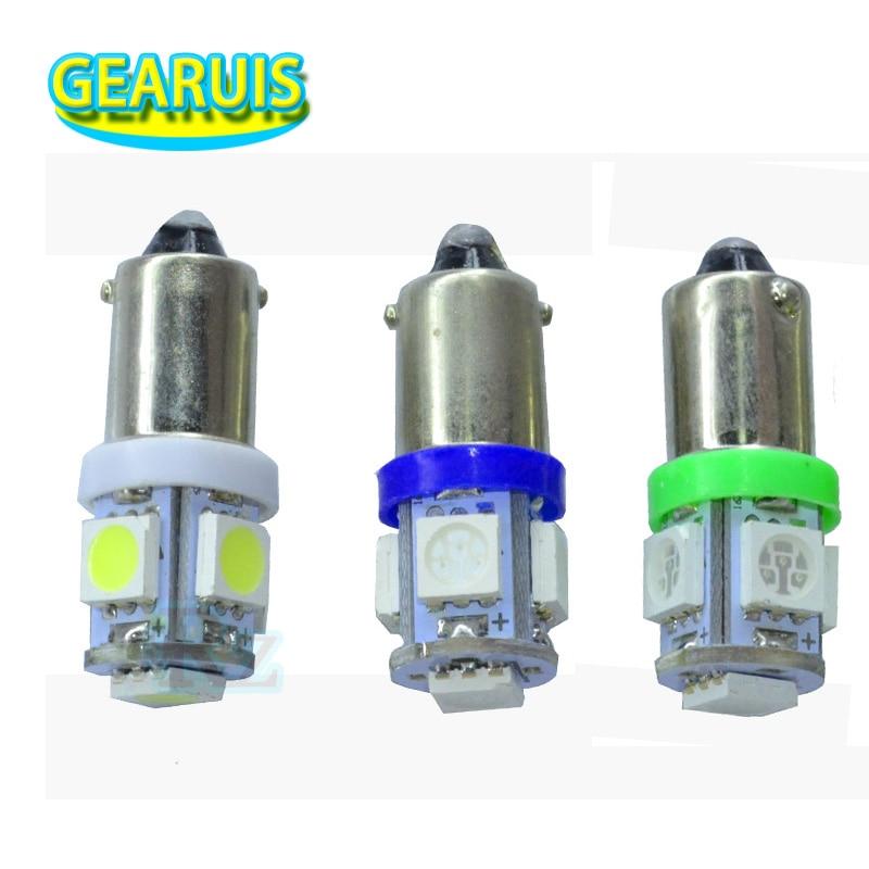 100PCS BA9S 6 3V 5 SMD 5050 LED Light Bulb Lamp Non ghosting anti flickering AC