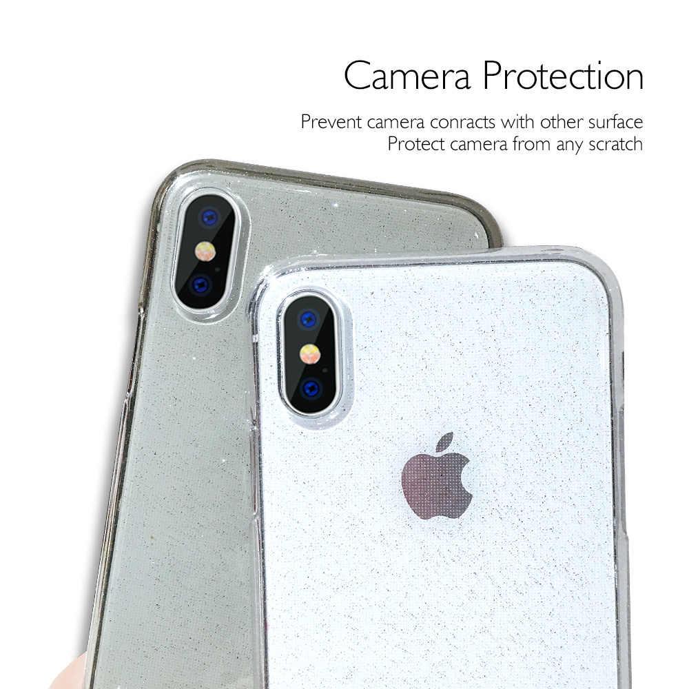 Iphone XS 最大ケース透明高級シリコン Tpu カバー用 11 プロ XR × 8 プラス 7 6 6S ピンクケースアクセサリー