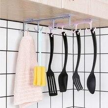 Многофункциональная вешалка полка для хранения в гардеробе присоска для вывешивания на шкаф вешалка для посуды Cuelga Tazas настенный крючок домашний декор