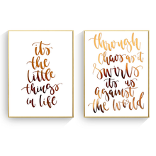 English Gold Letters Inspirational Decorative Painting Minimalist Living Room Bedroom Wall Art Picture By Numbers Cuadros
