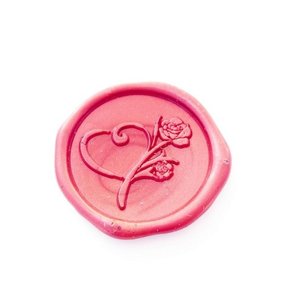 Heart Rose Wax Seal stamp,Elegant, Wedding,Birthday Graduation Flower Love letter, Anniversary,sealing wax stamp for invirtation