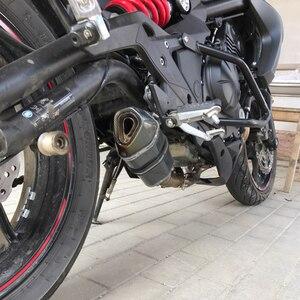 Image 4 - Mtimport ER6F ER6N忍者650R 2012 2013 2014 2015オートバイバイク51ミリメートル排気フルシステムミドルパイプカワサキER 6N