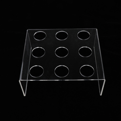 9 Hole Acrylic Ice Cream Cone Stand Holder Candy Dessert Display Stand for Wedding Kids Birthday Party Buffet