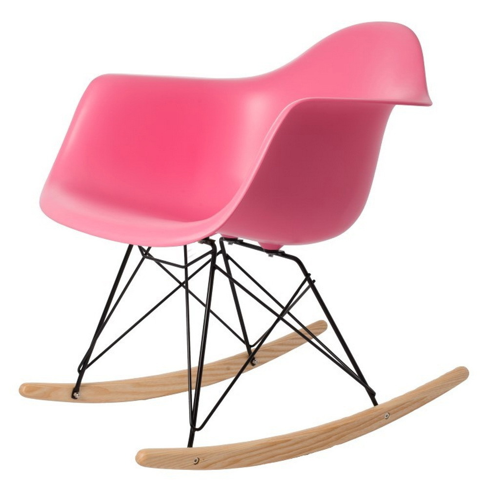 Modern Design Popular Home decoration Rocking Chair Plastic Shell Rocker Home Rocking ch ...