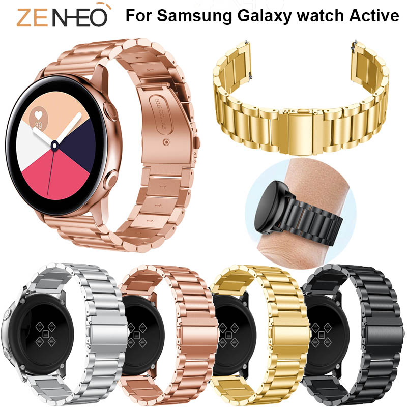 20mm For Samsung Galaxy Watch Active Watch Band Bracelet Stainless Steel For Samsung Galaxy Bands Strap Replacement Wristband