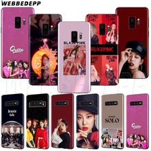 WEBBEDEPP Blackpink jennie TPU Souple étui pour samsung Galaxy Note 8 9 S6 S7 S8 S9 S10 S10e Bord Plus(China)