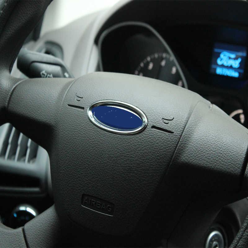 子馬燃焼 ABS クローム車のステアリングホイールの装飾リングトリムステッカーフォードフォーカス 2 3 4 フィエスタモンデオ Ecosport 久我エスケープ
