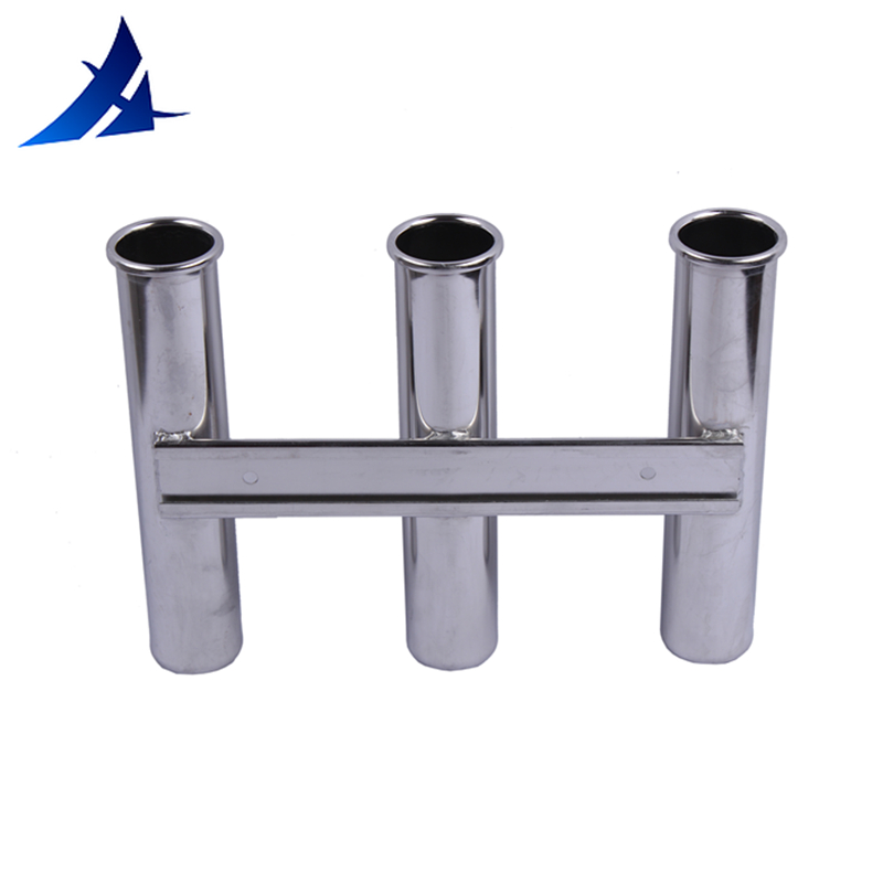 3 Hole Stainless Steel Fishing Rod Holders Marine Boat Yacht Rack Holders 11.5 Inches