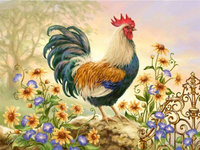 Cock Wall Arts Full Diamond Embroidery New Needlework Home Decoration 3D Diy Diamond Painting Cross Stitch