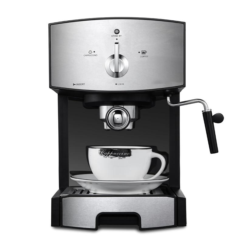 DMWD 1.25L Semi-automatic Espresso Coffee Machine Electric Milk Frothers Milk Foamer Coffee Maker High Pressure Steam 20 Bar