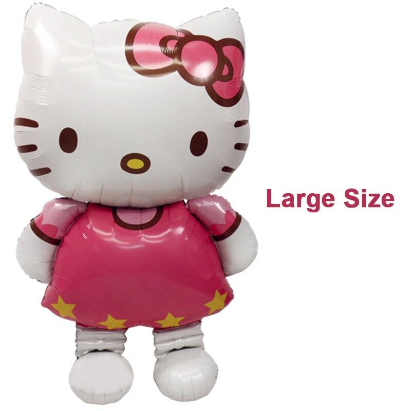 116*68 см большой размеры привет котенок кошка фольга шар/80*48 см средний мультфильм одежда для свадьбы, дня рождения украшения надувные воздушный шар