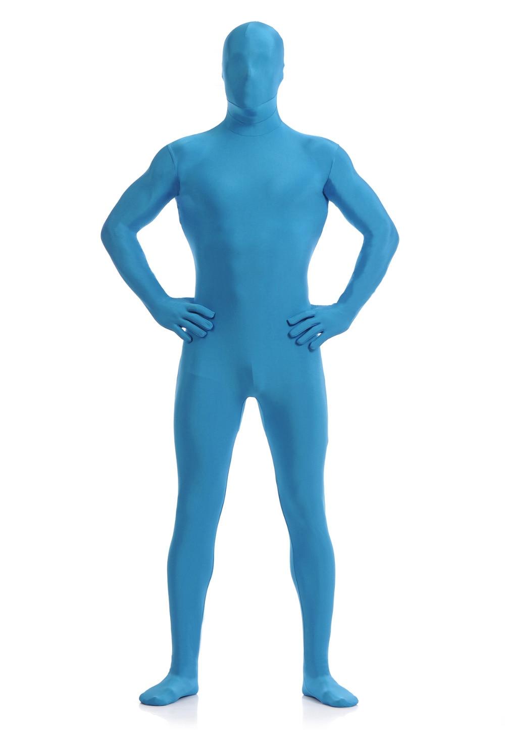 Cheap Sea Blue Spandex Full Body Unisex Cosplay Skin Suit ...