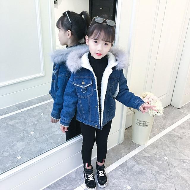 05b98b99e28a Aliexpress.com   Buy Kids Denim Jackets for Girls Winter Children ...