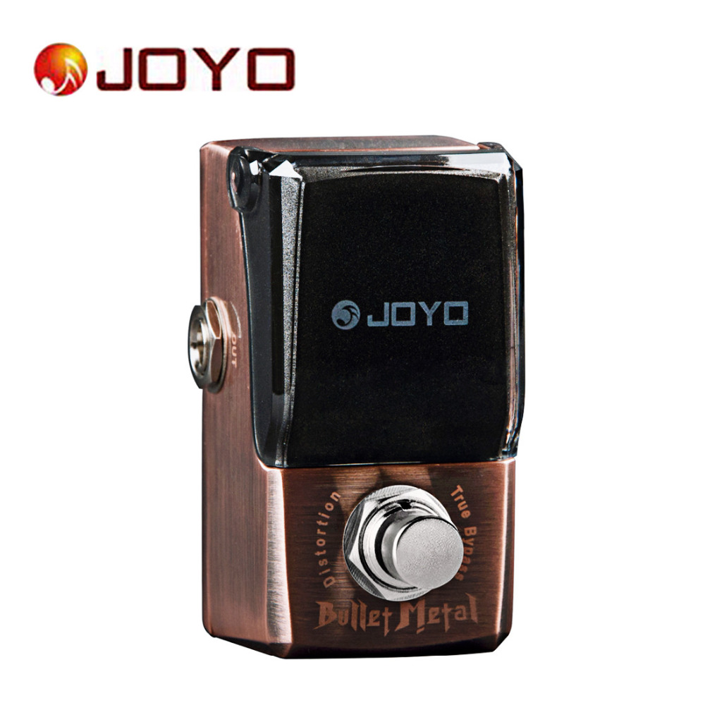 Joyo IRONMAN JF-321 Guitar Pedal Bullet Metal Distortion Effect Mini Electric Guitar Effect Pedal with Knob Guard True Bypass aroma ac stage acoustic guitar simulator effect pedal aas 3 high sensitive durable top knob volume knob true bypass metal shell