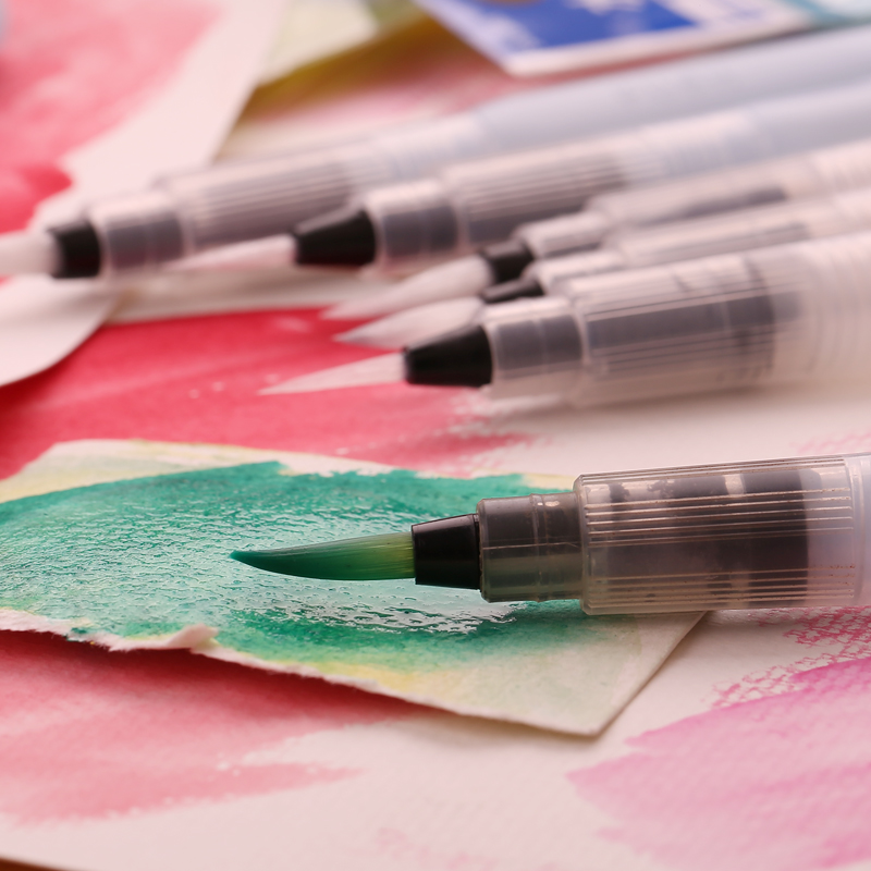 Watercolor pen Round Soft Brush Pen Set Size Middle s