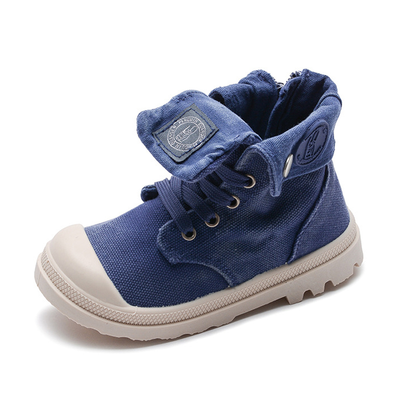 Anak-anak Jeans Sepatu 2019 Musim Semi Perempuan Kanvas Martin Boots Hot  Sale Karet Anak f976a39309