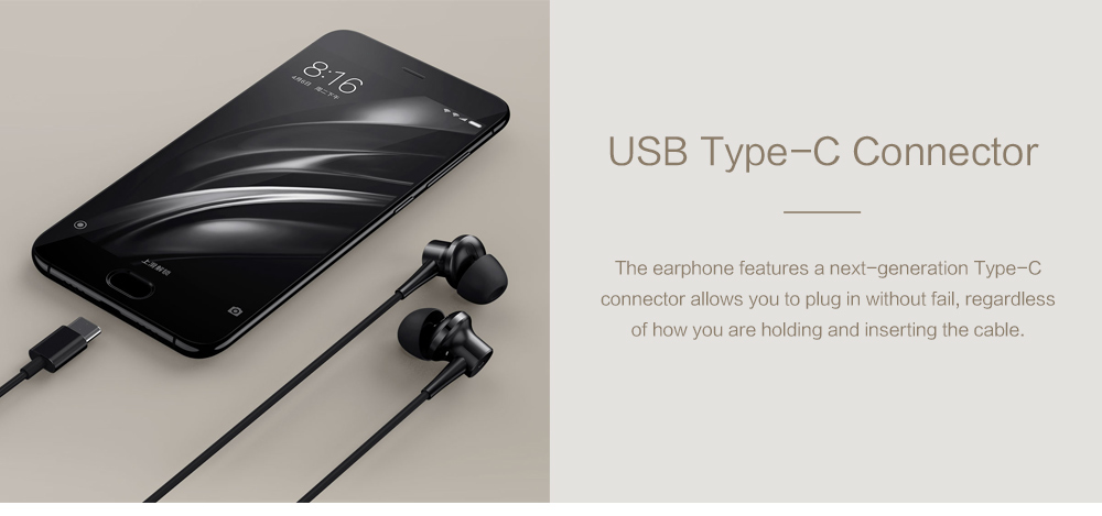 Original Xiaomi ANC Earphones Hybrid Type-C Mic Line Control Active Noise Cancelling USB-C for Xiaomi Mi6 MIX Note2 Mi5 5s Plus (20)