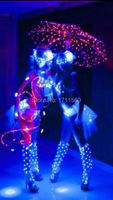 Led stage clothes luminous costume robot suits led clothing light suits led costume for dance performance wear
